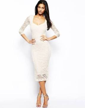 white long sleeved dress